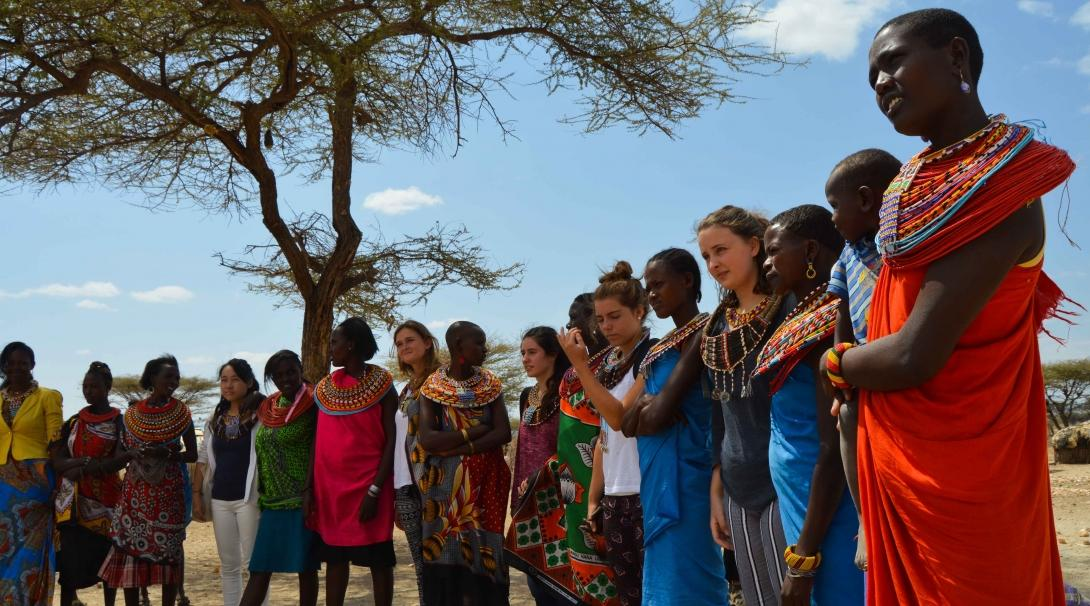 Projects Abroad volunteers get to know the traditional culture of a tribe in Kenya.
